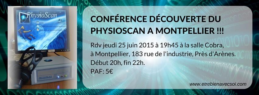 Conférence Découverte du PhysioScan le 25 Juin à Montpellier